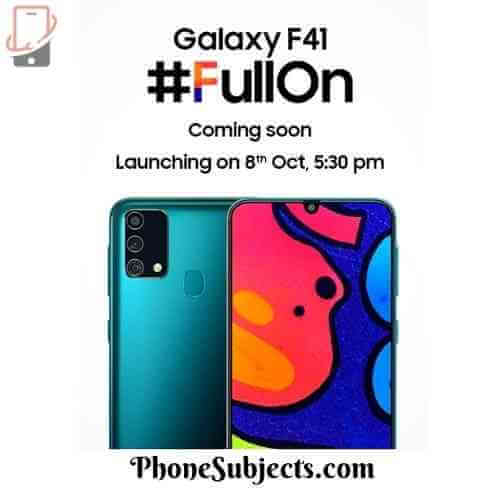 Samsung Galaxy F41: Processor, Display, Camera, Battery, Launch Date in India, Best Upcoming Smartphones